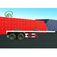 Dual Air Brake System Flat Deck Utility Trailer High Strength Low Alloy Steel Material