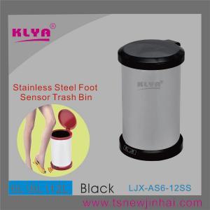 China 12L Eco-friendly Kitchen Foot Sensor Trash Can on sale