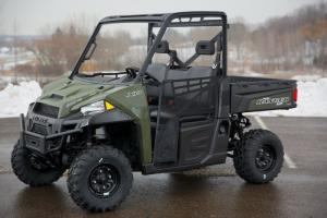 China Polaris Ranger Xp 900 Sage Green Gas Utility Vehicles With Windshield And Doors on sale