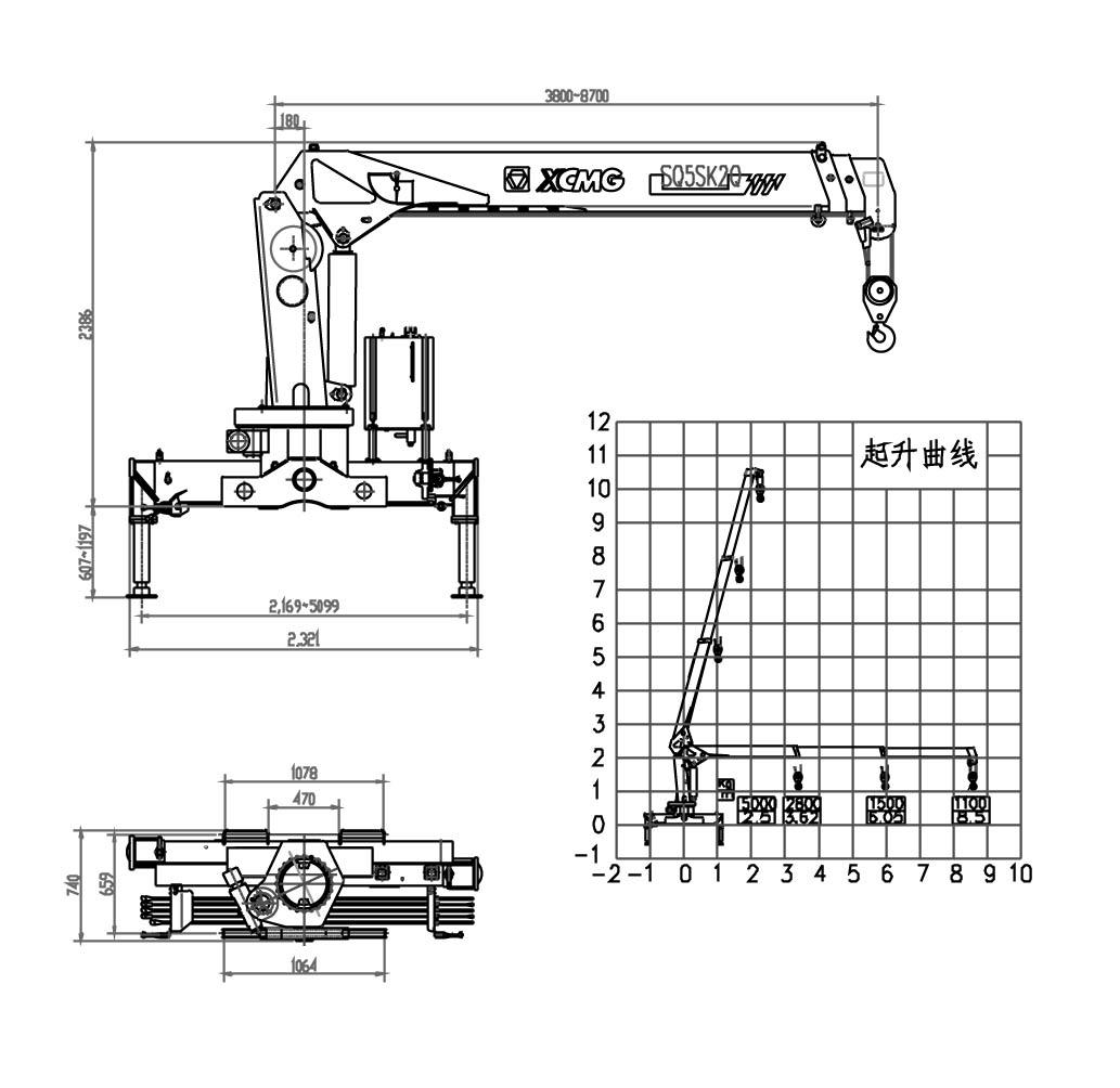 hiab crane diagram