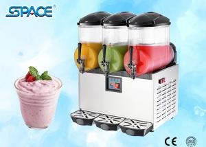 China Table Top Commercial Frozen Drink Slush Machine 3 Bowl Stainless Steel Material on sale