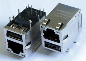 China 10/100M Base POE Female RJ45 PCB Connector with Single USB Power Jack on sale