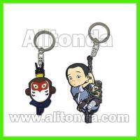 Custom pvc cute cartoon animal 3d figure key chains led lighting available