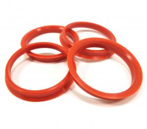 China Audi Components Wheel Spacer Hub Centric Ring , Car Wheel Ring Red Color on sale