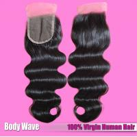 China Factory Wholesaler 100% Human Hair Extension Brazilian Hair Natural Color Lace Closure on sale