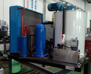 China Durable  Seawater Flake Ice Machine With Aluminum Brass Anticorrosion Seawater Condenser 2000kg/24h on sale