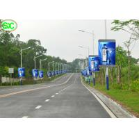 RGB P6 P5 LED Billboards Outdoor Street Banner Pole Sign Waterproof