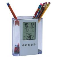 OEM Multi-function Professional Electric Digital Clocks, Acrylic Pen Container Clock