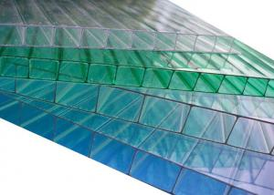 China Hollow Twin Wall Polycarbonate Sheet Ten Years Guarantee For Carport / Garage on sale
