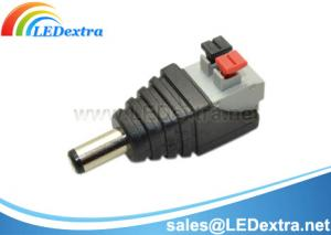 China Solderless DC Power Connector with Push Button on sale