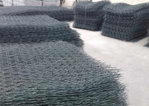 China Weaved Wire Mesh Pvc Coated Gabion Baskets , Plastic Gabion Baskets on sale