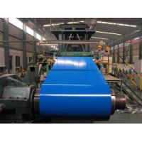 Customized PPGI / PPGL Pre Painted Color Coated Steel Coil Red / Sky Blue