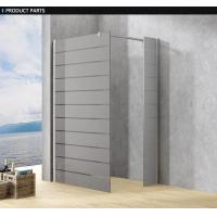 Frosted Custom Glass Shower Doors For Baths , Frosting Frameless Glass Shower Screen / Cabin