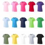 Wholesale Cheap Plain Tee Custom Logo 180G Cotton Woman T-shirt in bulk