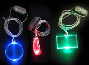 China Blue / green Led Flashing necklace LL-1001, Flashing Cup with PS Material on sale