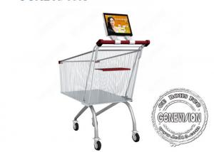 China 10.1 Inch Supermarket Android Shopping Cart Wifi Digital Signage Screen with Battery Inbuilt on sale