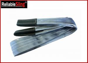 Quality Polyester Flat Double Eye Webbing Sling Color Code Lifting Sling Single Ply Or Double Plies for sale