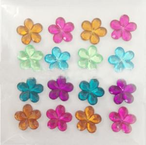 China flower rhinestone crystal epoxy sticker for mobile cover on sale