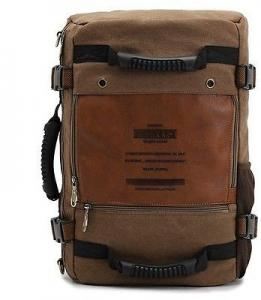 China Vintage Canvas Shoulder Military Messenger Bag Backpacks for men women on sale