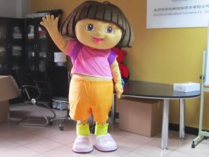 Quality Custom Girl Cartoon Character Dora Amusement Costumes for sale