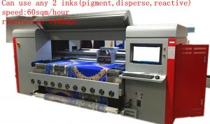 China 1.8m Dx5 Digital Textile Printing Machine Disperse / Reactive /  Pigment Ink on sale