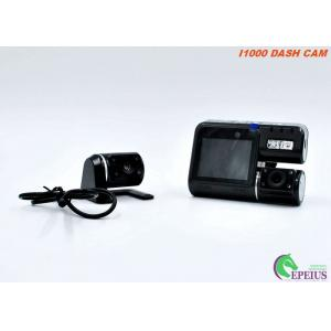 China Night Vision Car CameraWith 170 Degree Width Angle , Dual Lens Car Recording Camera on sale