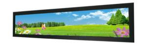 China Supermarket 16.3 inch shelf edge LCD display for POP strip video AD stretched bar lcd display on sale