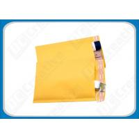 8.5 × 14.5 Yellow Air Jacket Bubble Mailer Envelopes , Custom Mailing Bubble Envelopes