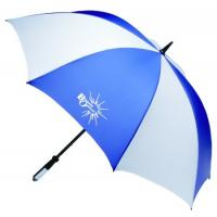 China Company logo printed promotional golf umbrella with plastic handle on sale