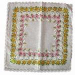 ハンカチーフ、カスタマイズされた設計およびサイズは、100%の綿の作られて受け入れられます