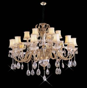 China High Lumen 18 Lights 1050 x 820mm Crystal Chandelier Lighting / Commercial LED Pendant Lighting on sale