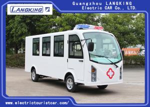 China Customized Color Electric Golf Cart Ambulance 8 Seats + 1 Bed 72V /7.5KW AC Motor on sale