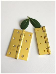 China Auto Close Type Ball Bearing Door Hinges , Ss Ball Bearing Hinges Oil Resistance Flat Head on sale