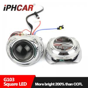 China IPHCAR Wholesale 35W 12V Crystal Led Halo rings hid xenon car headlight on sale