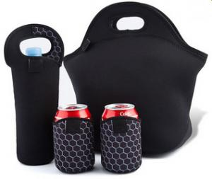 China Neoprene Large Insulated Lunch Bag UV Protection With Smooth Skin on sale