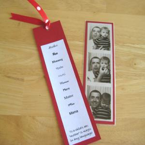 China Paper Recycled Colored Siver Stamping Custom Printed Labels and Photo Bookmark on sale