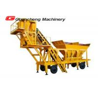 Mobile Concrete Mixing Plant , Automatic Batching Plant 3.8m Discharging Height