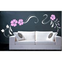 Nontoxic Designer Personalised Wall Decoration Flower Stickers, Decal Wall Stickers