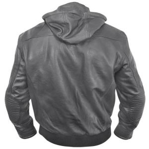 China 2012 men's new style hooded windproof imitation leather jacket on sale