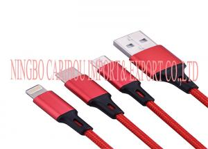 China Retractable Usb Charging Cable , 3 In 1 Usb Cable For Android Mobile Phone on sale