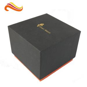 Lid And Base Gift Box For Smart Watch Small Device Matt Black Cube