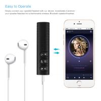 Newest car bluetooth receiver 3.5 mm DC handsfree calling aux car kit speaker OEM order welcomed for iPhoneX 7plus