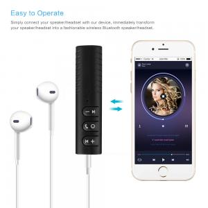 China Newest car bluetooth receiver 3.5 mm DC handsfree calling aux car kit speaker OEM order welcomed for iPhoneX 7plus on sale