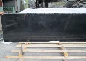 China Outdoor Black Polished Granite Floor Tiles , Supreme Large Granite Slabs on sale