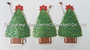 China Christmas Tree Shaped Flashing LED Module , Recordable Voice Module For Greeting Cards on sale