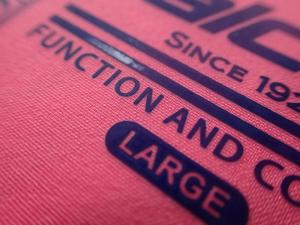 China Anti Sublimation Heat Transfer Fabric Labels For Clothing , Bags , Hats on sale