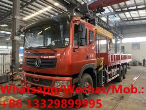 China customized brand new dongfeng teshang 270hp diesel 12tons XCMG telescopic crane boom mounted on cargo truck for sale on sale