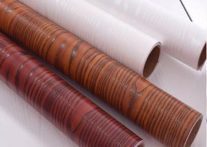 China Red Textured Wood Grain Wallpaper Waterproof Wood Grain Self Adhesive Vinyl Rolls on sale