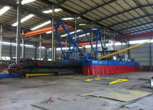 China cutter suction dredging boat equipped with iron extraction unit on sale