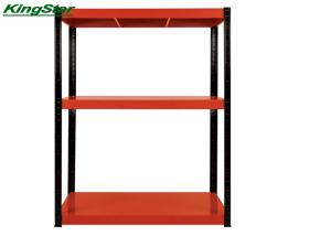 China Retail Shop 3 Shelf Metal Storage Rack Structural Integrity 500Kg Capacity on sale